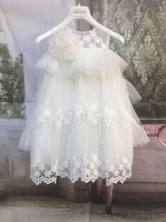 60740fe5f63 Βαπτιστικό χειμερινό φόρεμα από την Dolce Bambini Nicole